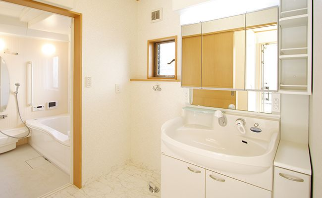 洗面室のスペース拡張リフォーム