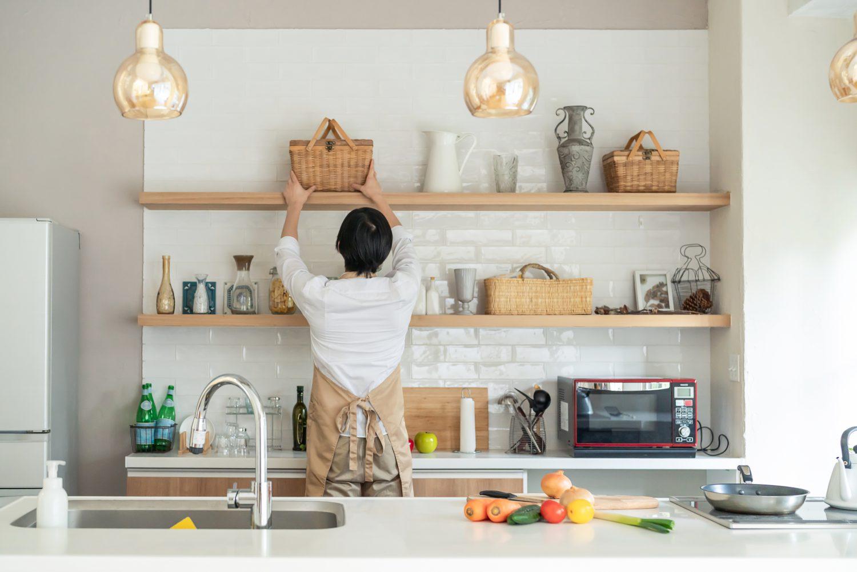 美しいキッチンを作るリフォーム|4タイプの収納の特徴と使い方
